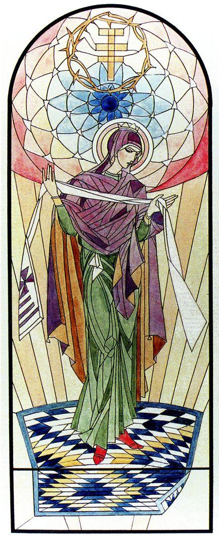 Петро Холодний. Ескіз вітража, 1926; папір, акварель