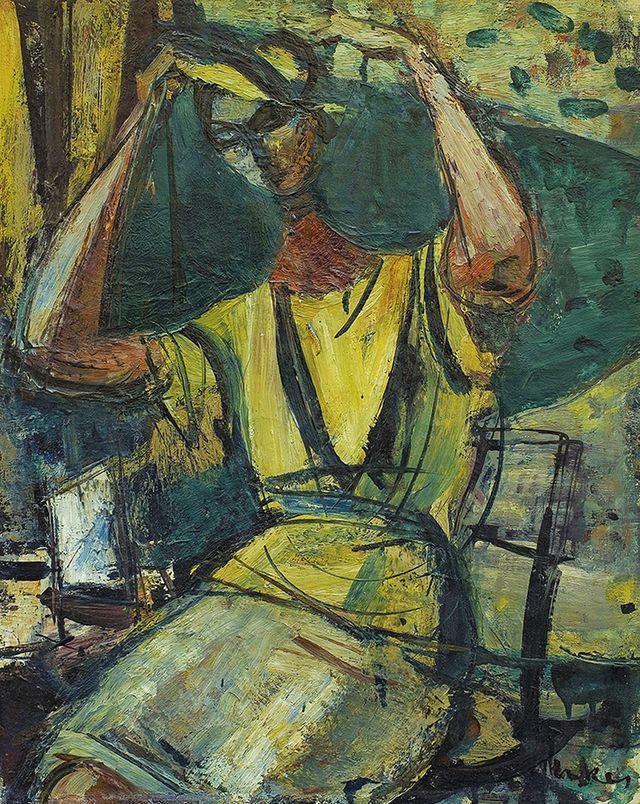 Зигмунт Менкес. Дівчина перед дзеркалом, 1960-ті; олія, полотно
