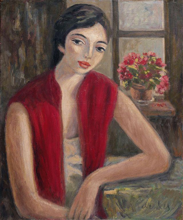 Зигмунт Менкес. Жіночий портрет, 1930-ті; полотно, олія