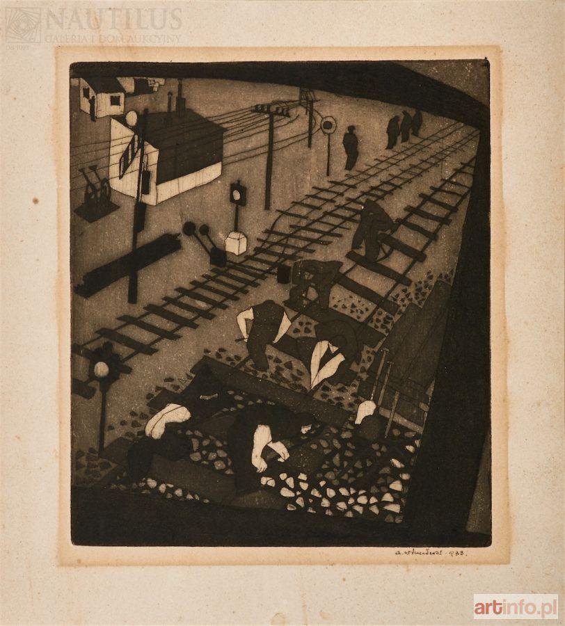 Олександр Винницький. Залізничні роботи, 1933, акватінта