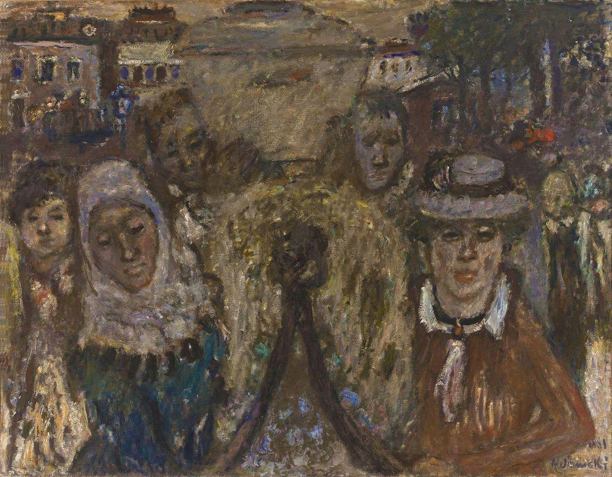 Олександр Винницький. Похорон, 1961, х,м ; NMW