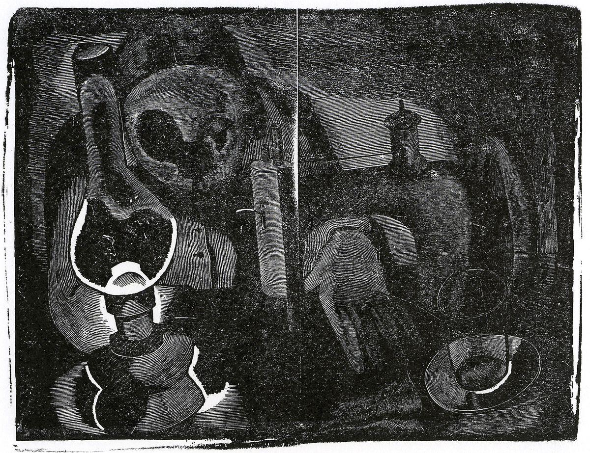 Олександр Винницький. Швачка, 1930-і, дереворит