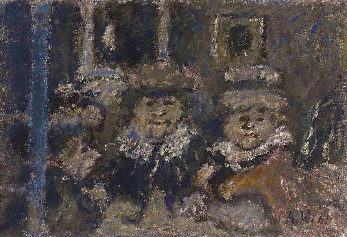 Олександр Винницький. В перукарні, 1961, х,м ; NMW