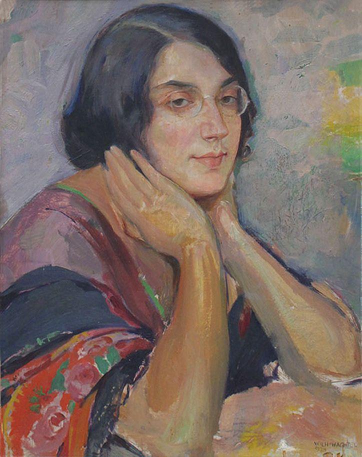 Вільгельм Вахтель. Портрет дівчини, 1924