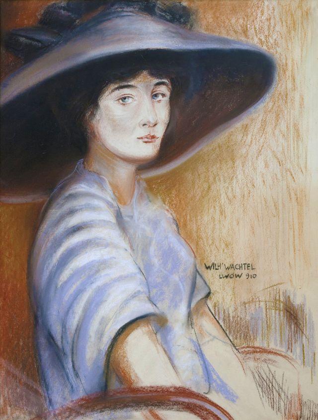 Вільгельм Вахтель. Портрет дами, 1910