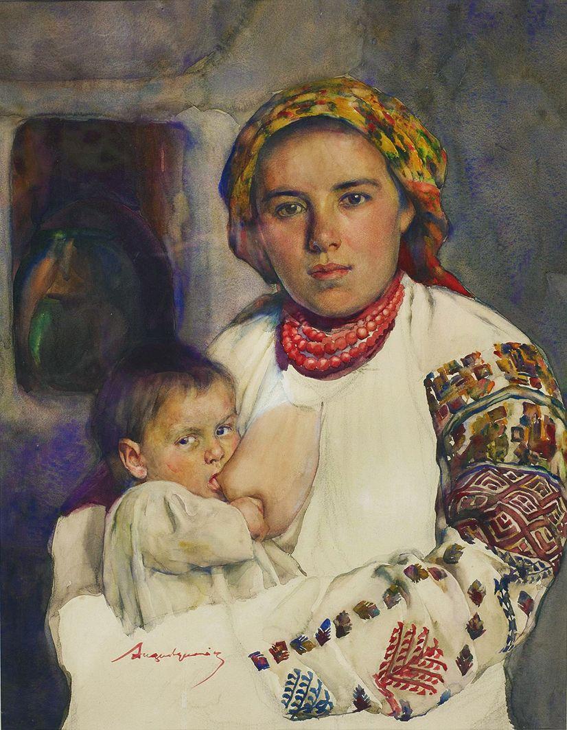 Олександр Авґустинович. Материнство, 1937