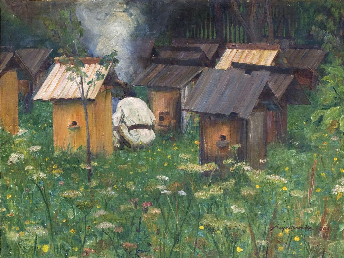 Олександр Авґустинович. На пасіці, 1905, ЛНГМ