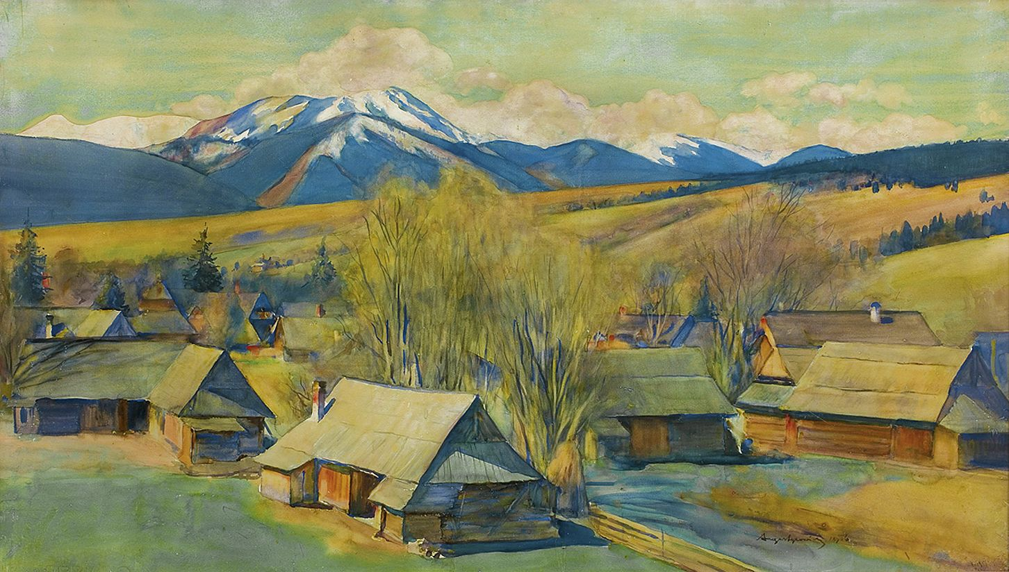 Олександр Авґустинович. Підтатранський пейзаж, 1916