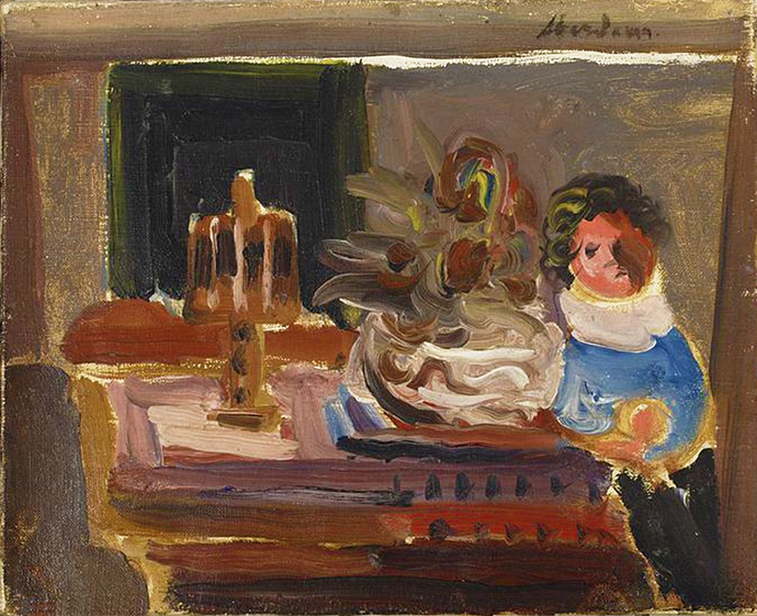 Альфред Абердам. Хлопчик за столом, 1930-ті; п, о; MNW