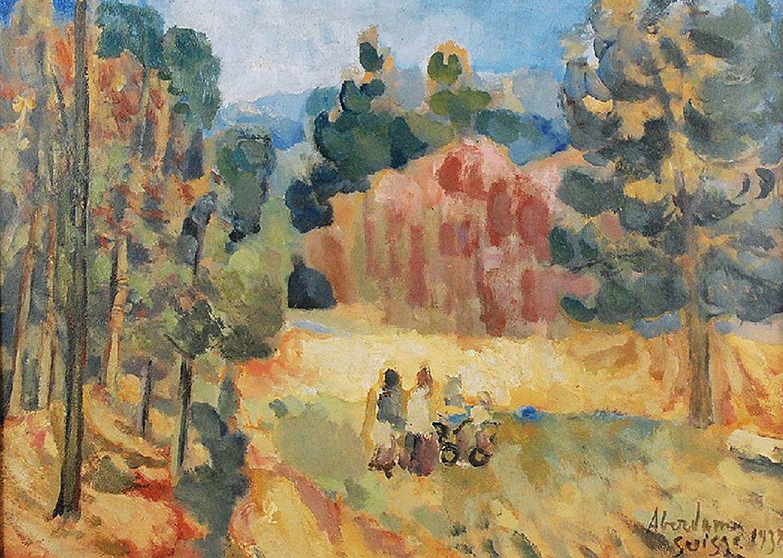 Альфред Абердам. Пейзаж, 1937