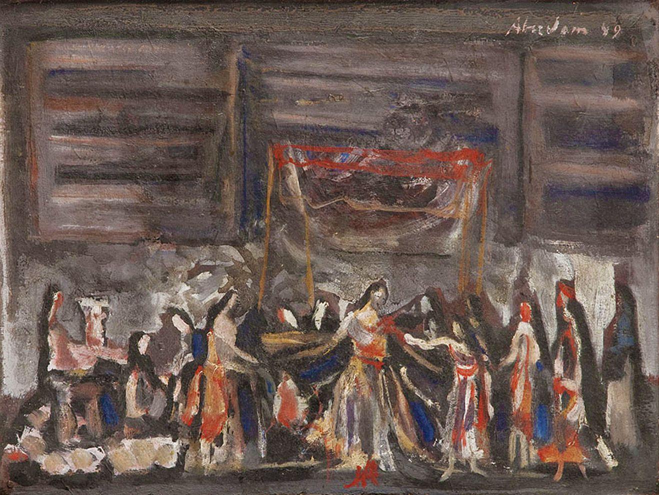 Альфред Абердам. Приготування до весілля, 1949