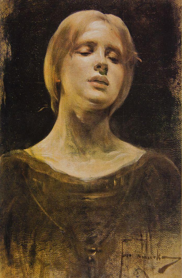Францішек Жмурко. Етюд Laudamus Feminam, 1900; к,о; ЛНГМ