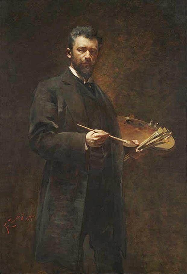 Францішек Жмурко. Автопортрет з палітрою, 1895; п,о; NMW