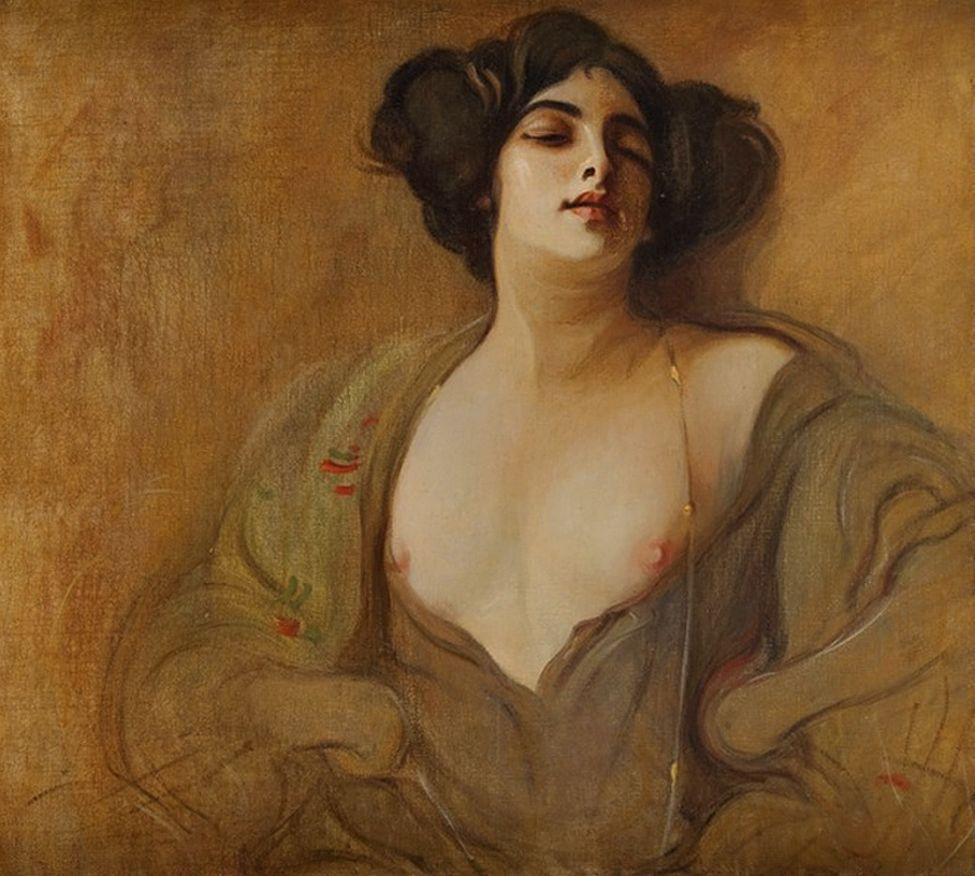 Францішек Жмурко. Куртизанка, 1906; п,о