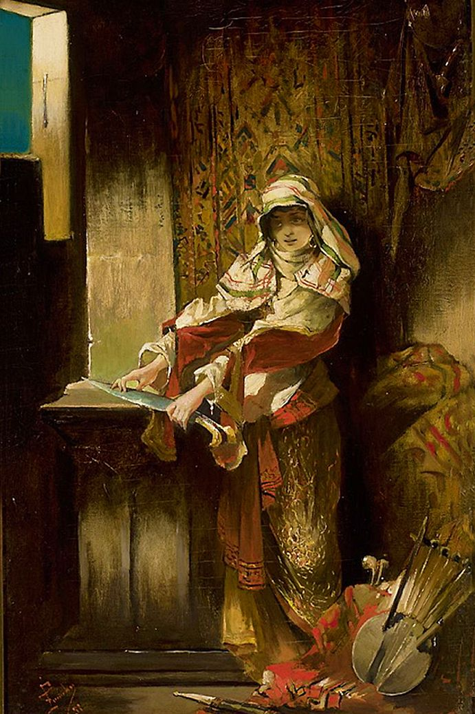 Францішек Жмурко. Мавританка гострить ятаган, 1891; п,о; NMW
