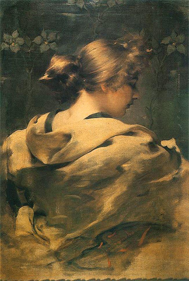 Францішек Жмурко. Портрет молодої жінки, 1896