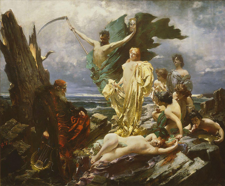 Францішек Жмурко. Сім смертних гріхів, 1895; п,о; MNW