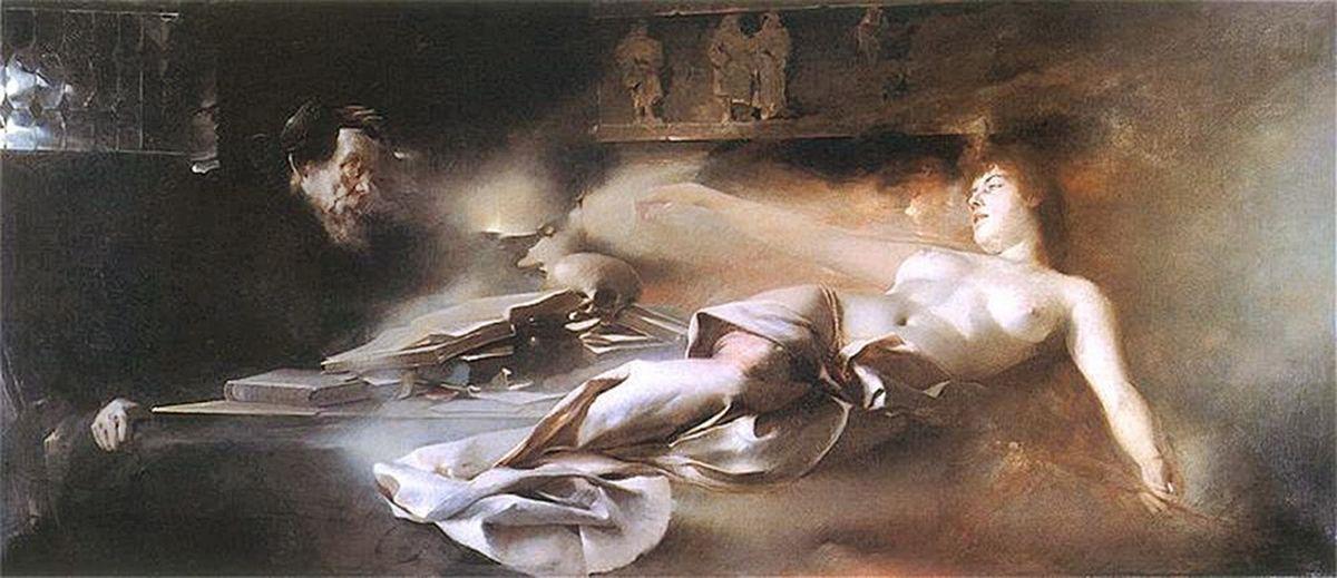 Францішек Жмурко.Видіння Фауста, 1890