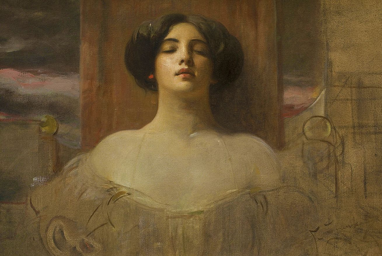 Францішек Жмурко. Жінка з червоним кульчиком, 1905