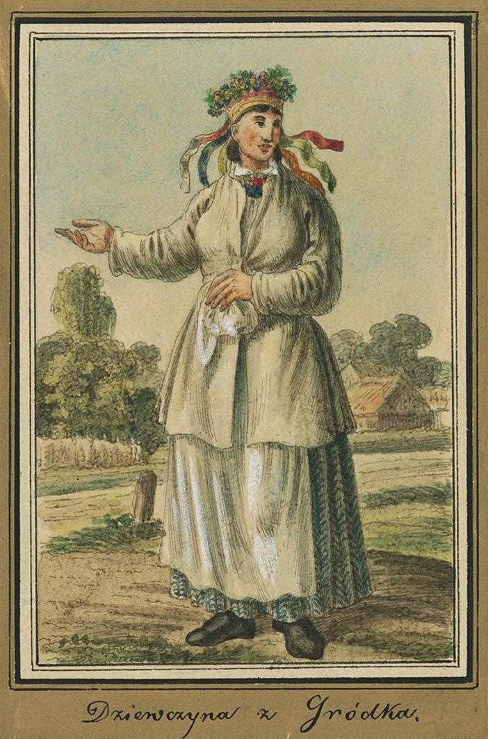 Каєтан Вінцент Кєлісінський. Городок. Дівчина, 1835, акварель