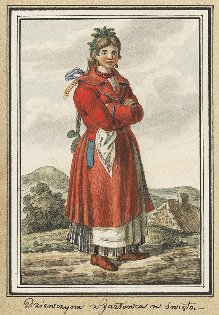 Каєтан Вінцент Кєлісінський. Язлівець. Дівчина у святковому вбранні, 1836, акварель