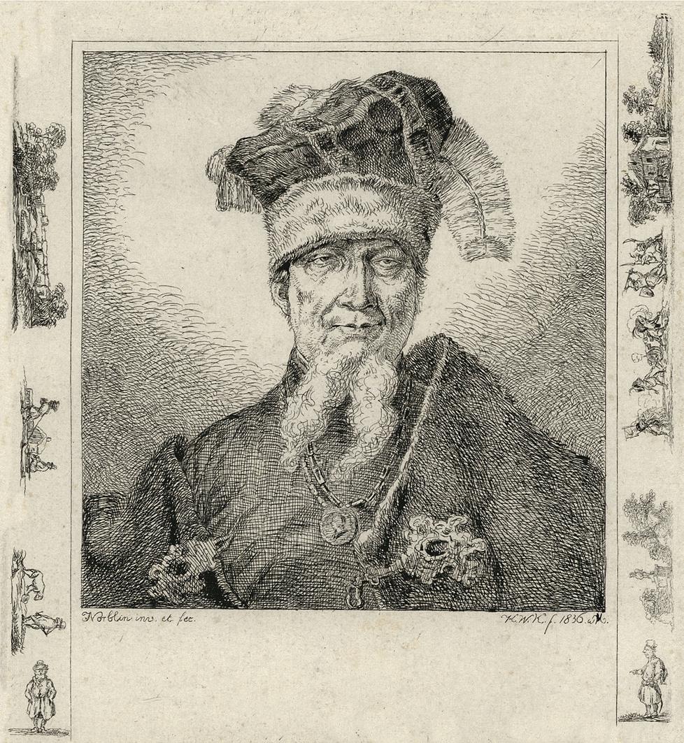 Каєтан Вінцент Кєлісінський. Іван Мазепа, 1836, офорт, BNW