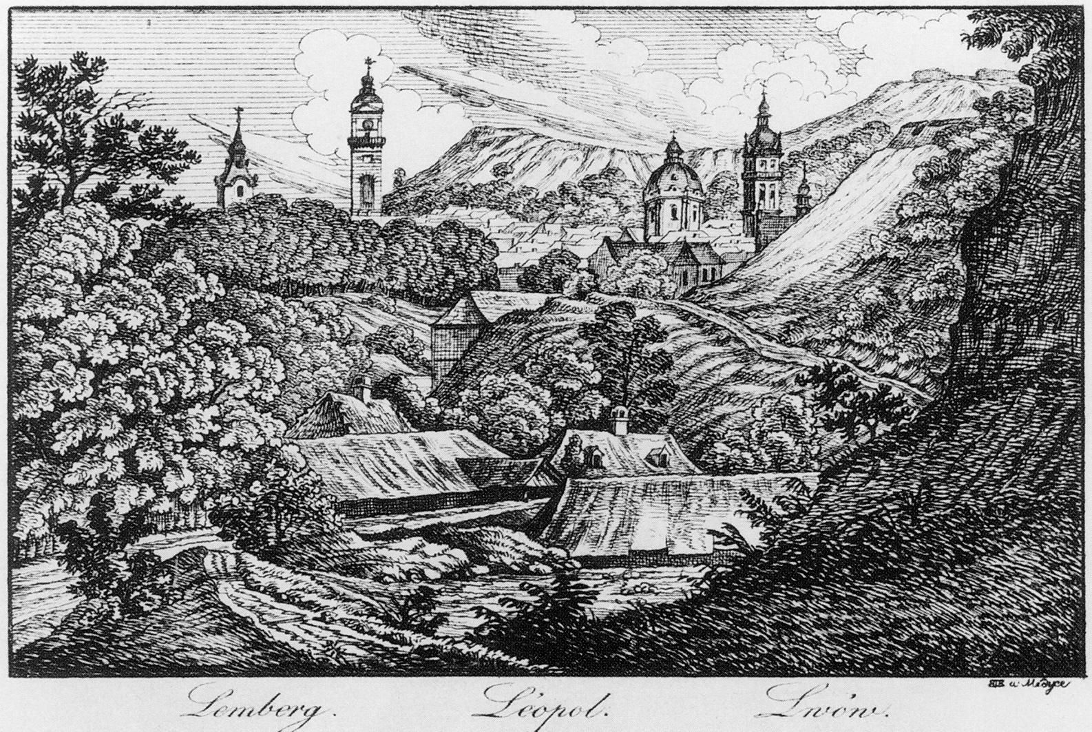 Каєтан Вінцент Кєлісінський. Львів, 1830-і, офорт
