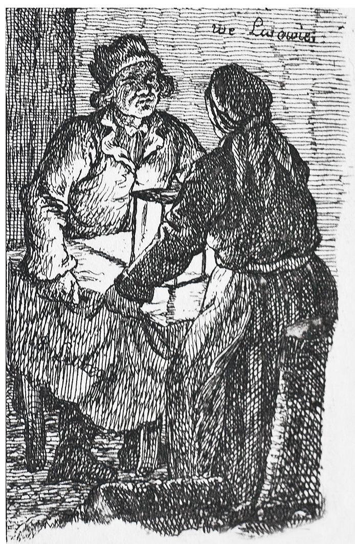 Каєтан Вінцент Кєлісінський. Львів. У крамниці, 1830-і, літографія