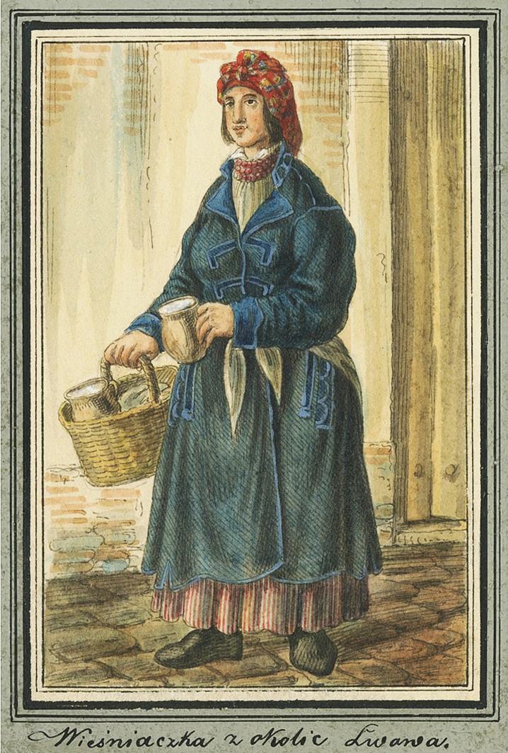 Каєтан Вінцент Кєлісінський. Львів. Міщанка з околиці, 1839, акварель