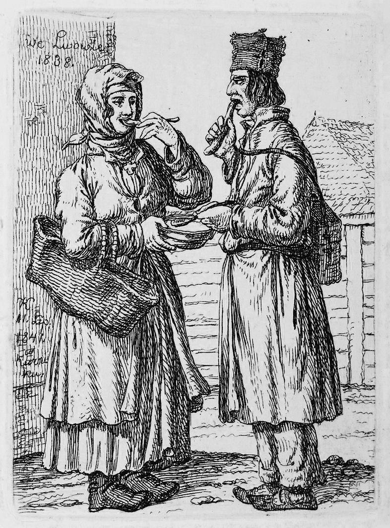 Каєтан Вінцент Кєлісінський. Львів. Обід на вулиці, 1838, літографія