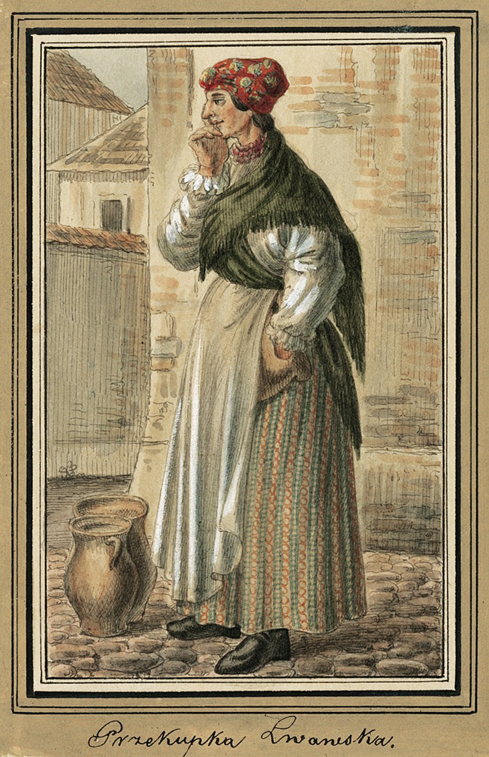 Каєтан Вінцент Кєлісінський. Львів. Перекупка, 1836, акварель