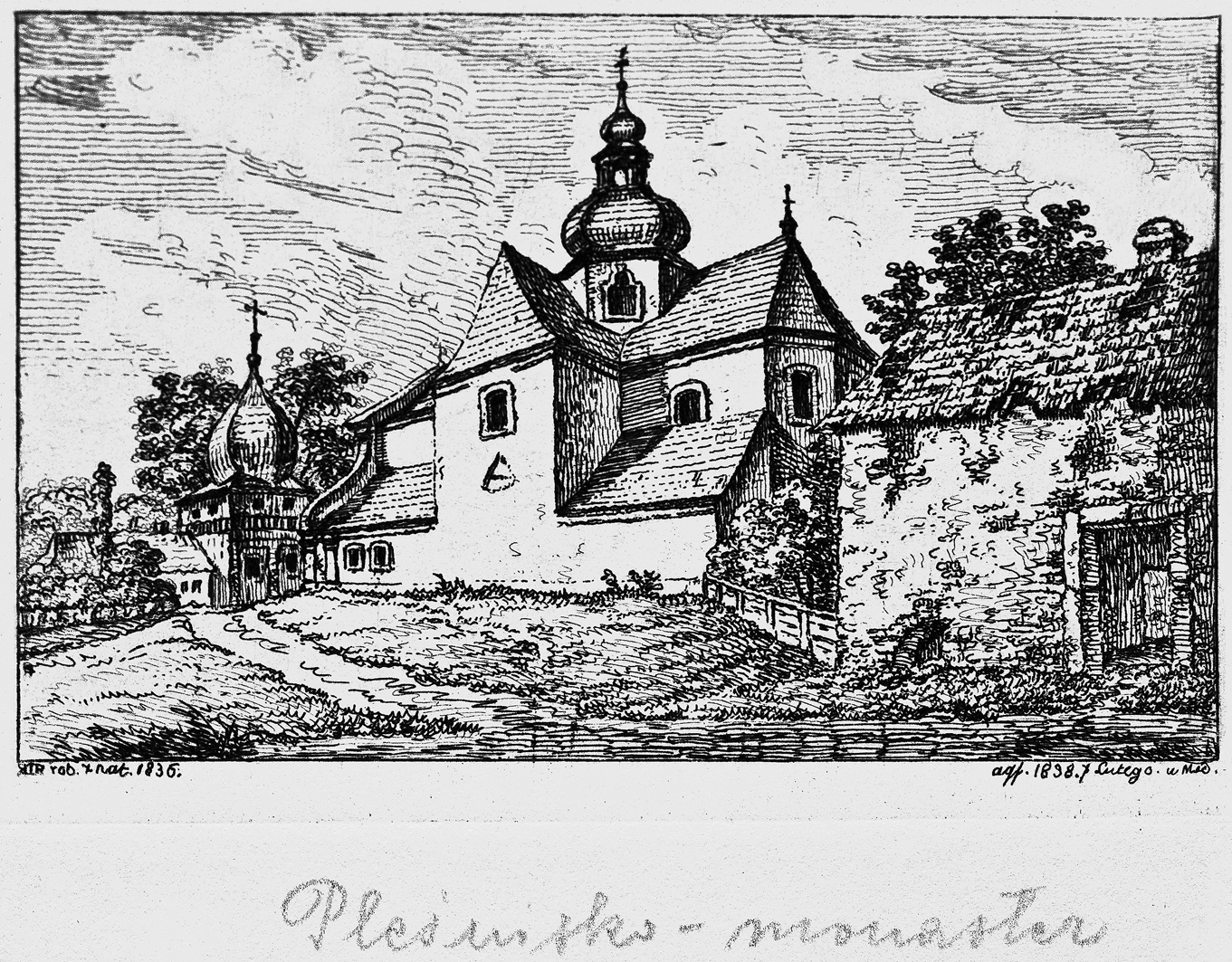 Каєтан Вінцент Кєлісінський. Підгірці (Пліснеськ) Церква, 1836, літографія