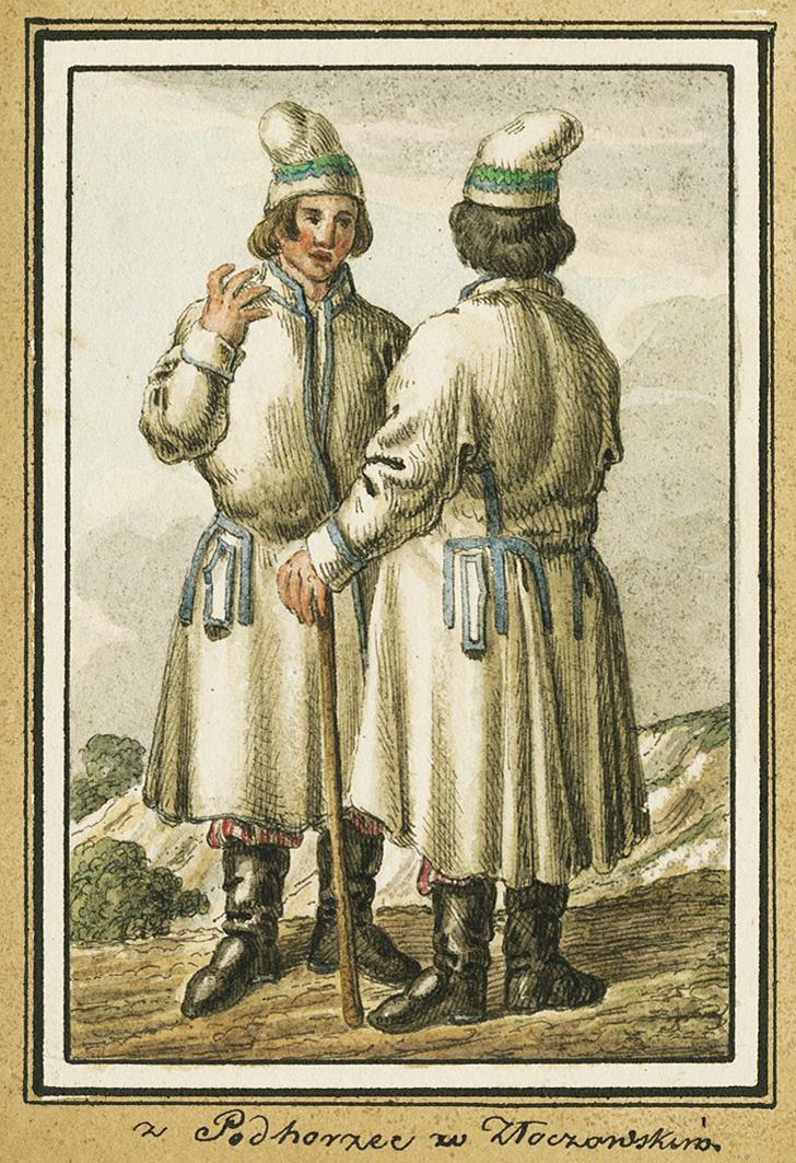 Каєтан Вінцент Кєлісінський. Підгірці. Селяни, 1836, акварель