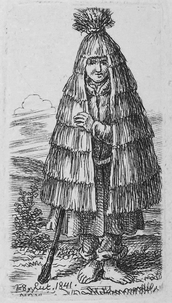 Каєтан Вінцент Кєлісінський. Селянка в плащі з соломи, 1841