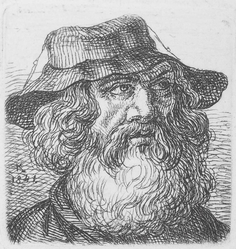Каєтан Вінцент Кєлісінський. Старий єврей, 1841, офорт