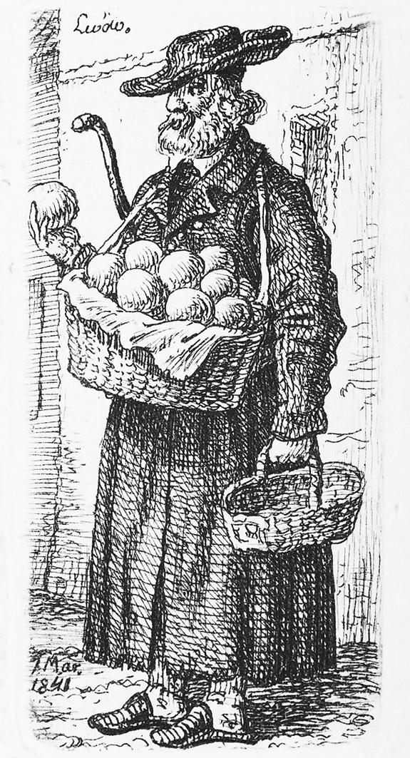 Каєтан Вінцент Кєлісінський. Львів. Торговець фруктами, 1841