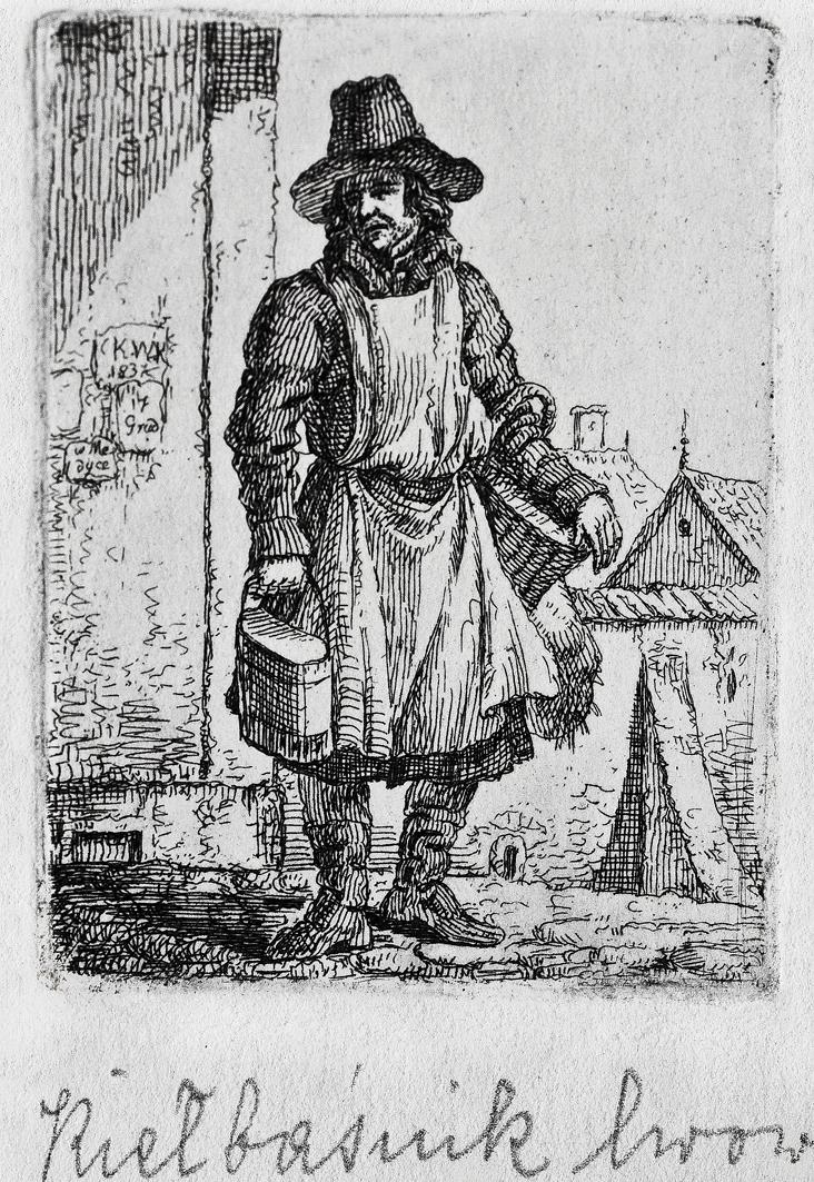 Каєтан Вінцент Кєлісінський. Львов. Продавець ковбаси, 1830-і, літографія