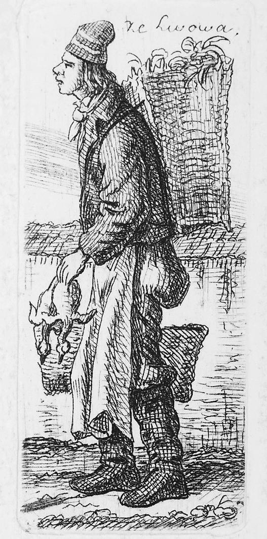 Каєтан Вінцент Кєлісінський. Львів. Львів. Торговець пташиною, 1841