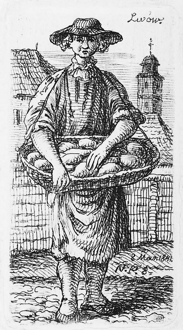 Каєтан Вінцент Кєлісінський.Львів. Торговка хлібом, 1841