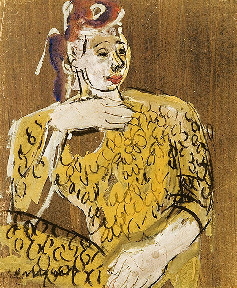 Йоахім Вайнгарт. Дама в жовтій сукні