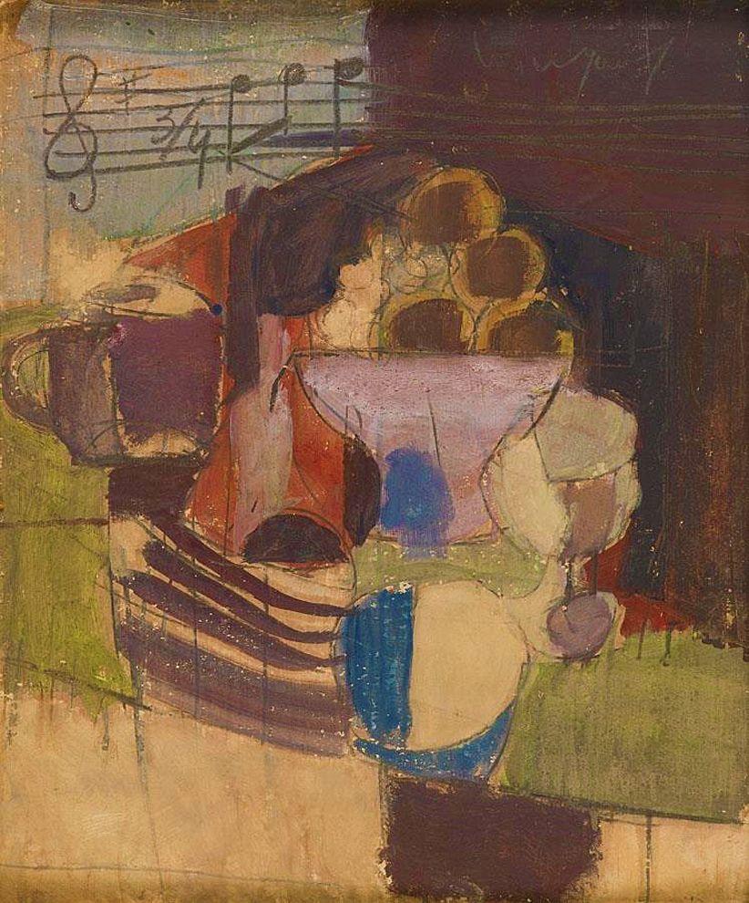 Йоахім Вайнгарт. Натюрморт з нотами, 1930-ті
