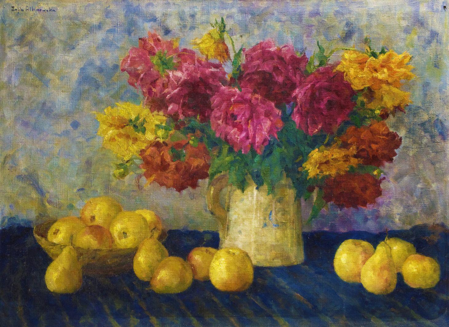 Софія Альбіновська-Мінкевич. Жовті яблука та груші, 1930-ті; ЛНГМ