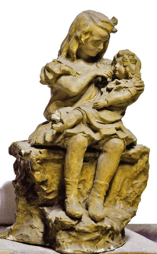 Люна Амалія Дрекслер. Дівчинка з лялькою, 1908