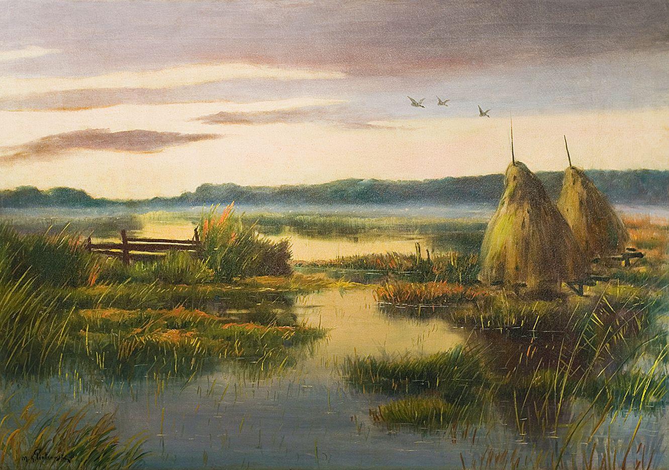 Мечислав Корвін Пьотровський. Копиці на болоті, 1930