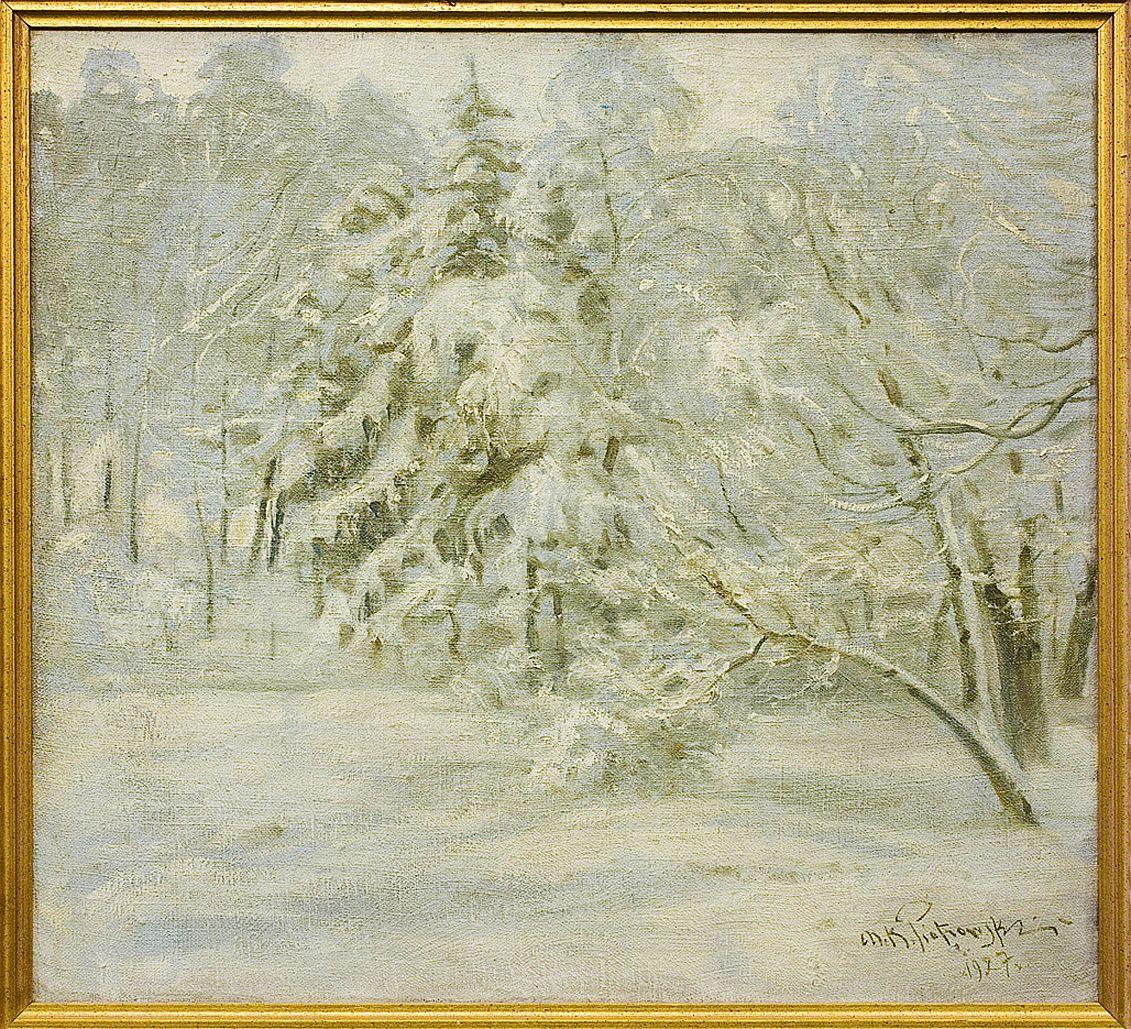 Мечислав Корвін Пьотровський. Зимовий ліс, 1927