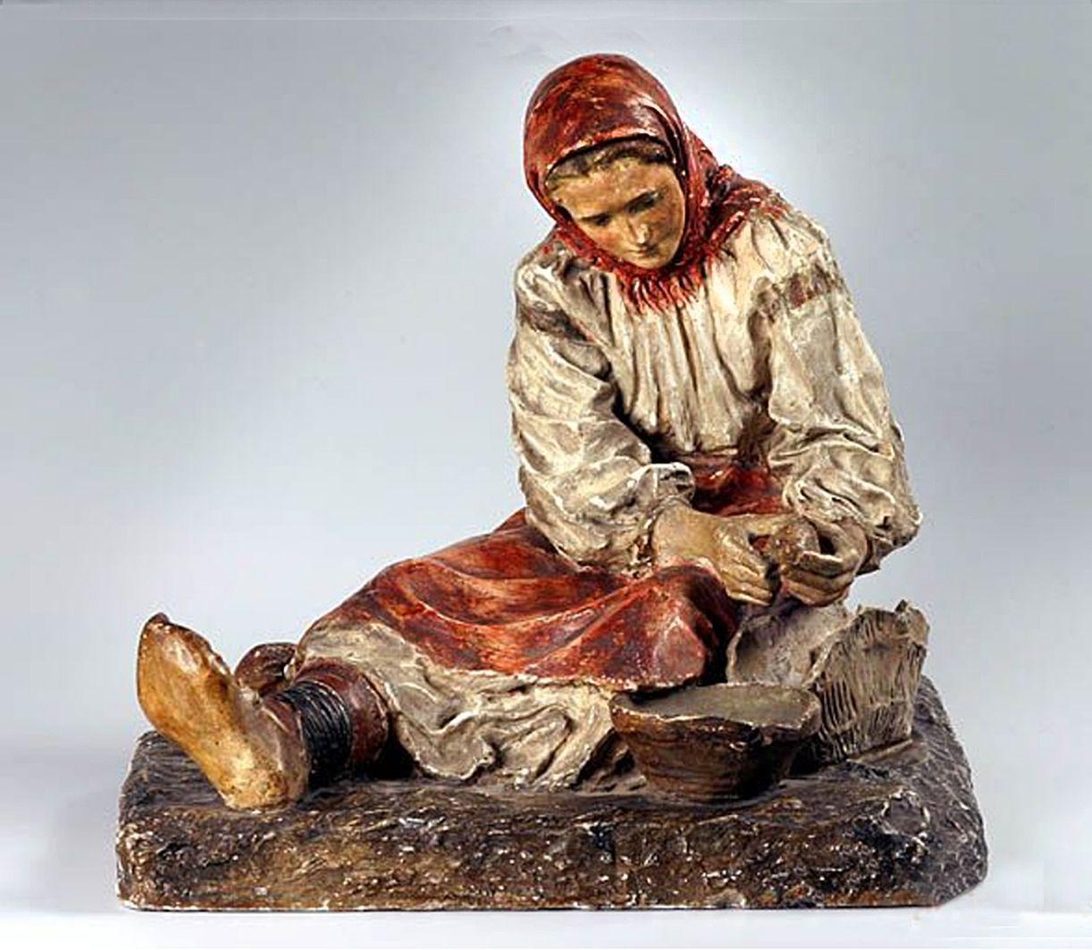 Люна Амалія Дрекслер. Чистить картоплю, 1906