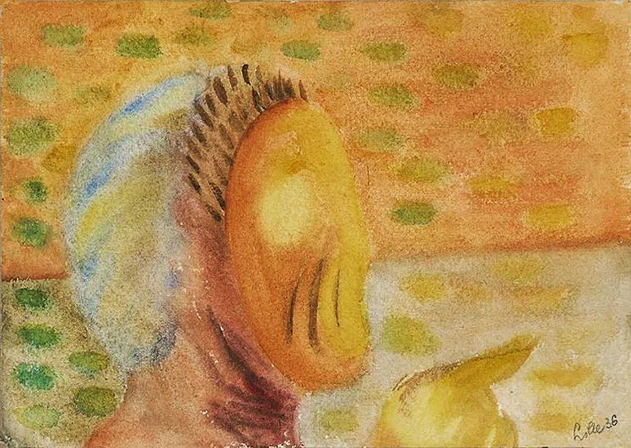 Людвиґ Ліллє. Профіль у масці, 1936; NMW