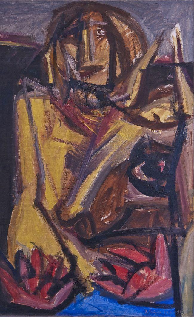 Володимир Лобода. Доярка. Жінка з коровю, 1985