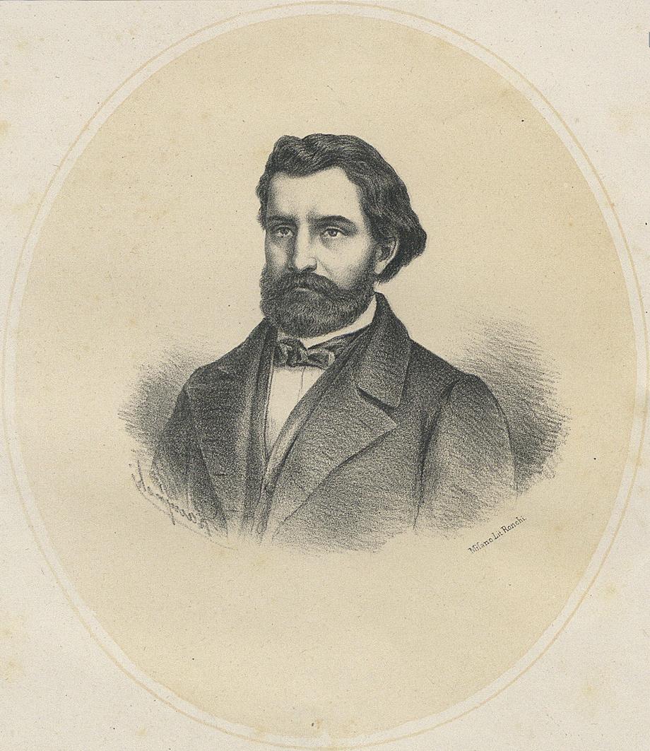 Александер Рачинський. Портрет Мартина Бореловського, 1864; літографія
