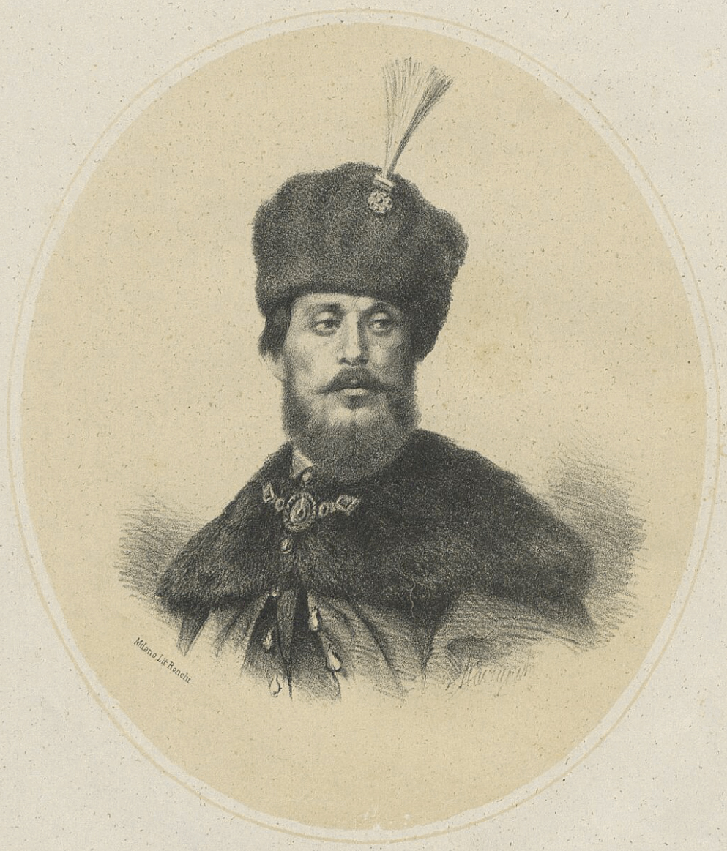 Александер Рачинський. Портрет I C Дзялинського, 1864; літографія